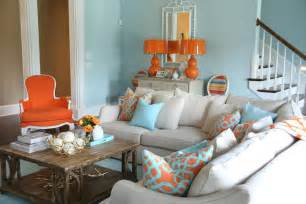 orange and blue rooms blue and orange living room contemporary living room valspar la fonda mirage colordrunk