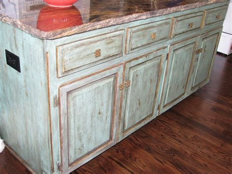 Distressed Turquoise Kitchen Cabinets by Distressed Turquoise Kitchen Cabinets Quicua