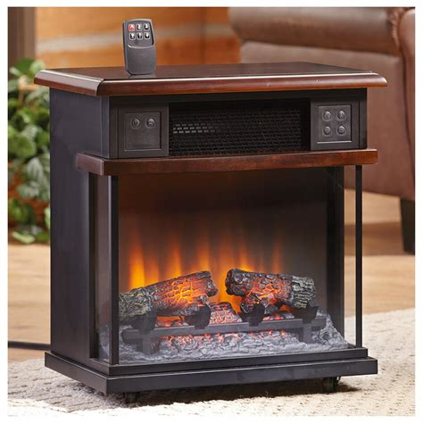 rolling mantel infrared fireplace 611512 home heaters