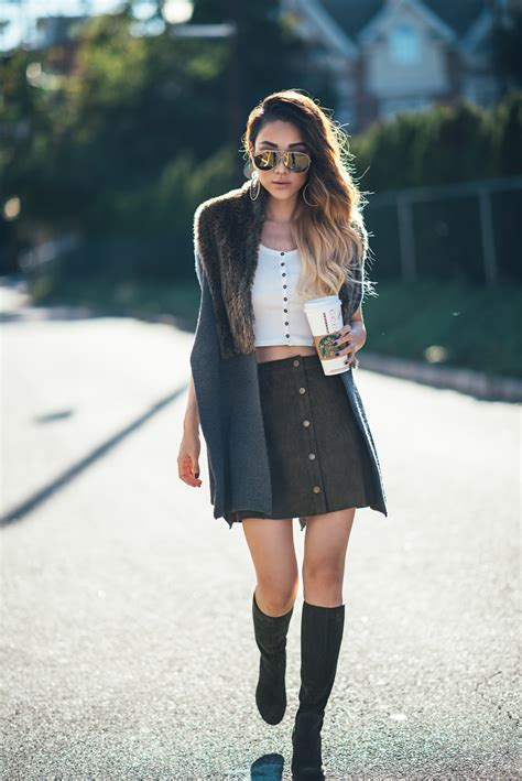 5 fresh ways to wear denim skirts glam radar