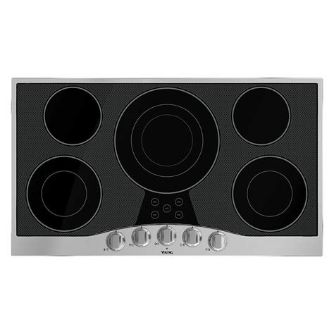 viking cooktops viking rvec3365bsb 36 quot electric cooktop 36 quot electric