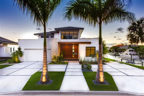 French Country Outdoor Lighting - bird key modern bungalow modern landscape tampa by borden landscape design