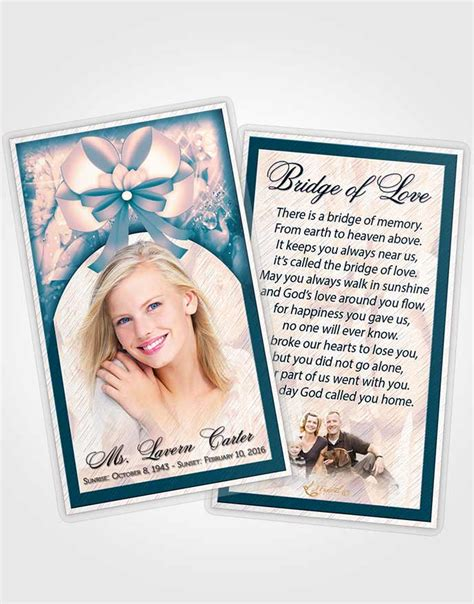 memorial card template sunset prayer card template sunset petals in the wind