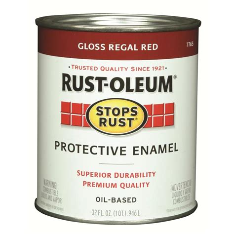 shop rust oleum stops rust regal gloss based enamel interior exterior paint actual net