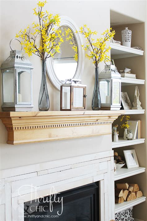 Mantel Shelf Decorating Ideas by Thrifty And Chic Diy Projects And Home Decor
