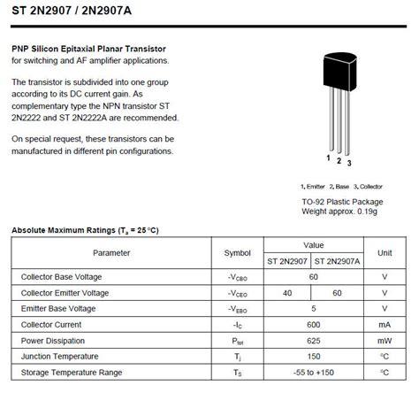 transistor pnp application datasheet transistor pnp 2n2907 28 images transistors 2n2907 2n2907 transistor datasheet