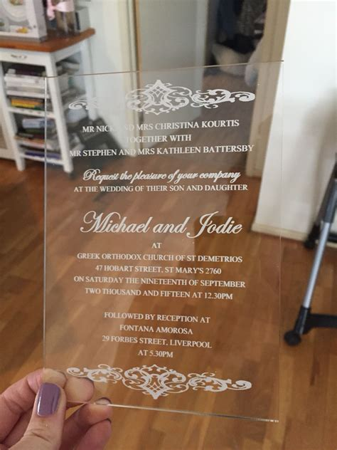 Clear Plastic Wedding Invitations