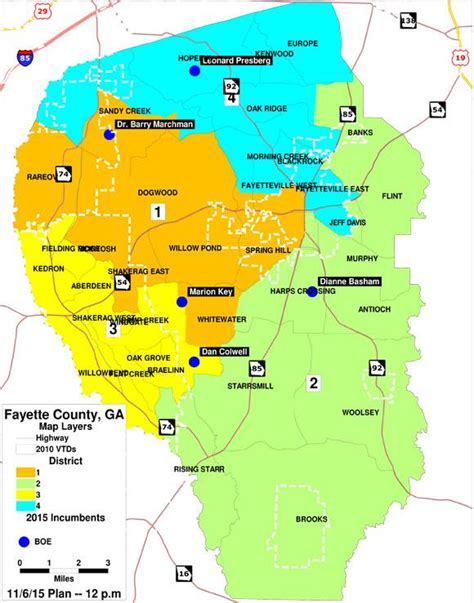 Fayette County Schools Calendar Board Member District Map Board Member District Map