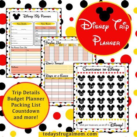 printable disney holiday planner 17 best images about disney printables on pinterest