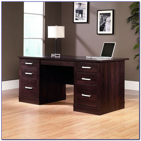 sauder office port executive desk sauder office port executive desk assembly