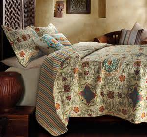 Coverlet Sets Esprit Spice 3pc King Quilt Set Brown Moroccan