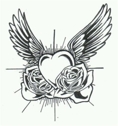 rose tattoo with angel wings wing roses diy crafts