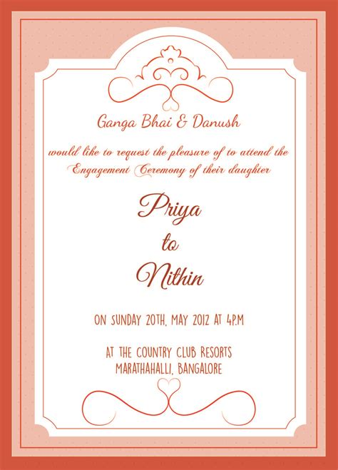 engagement invitation card template 13 best engagement invitation wordings images on