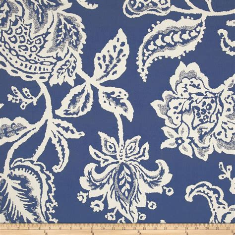designer home decor fabric robert allen home jacobean toss jacquard indigo
