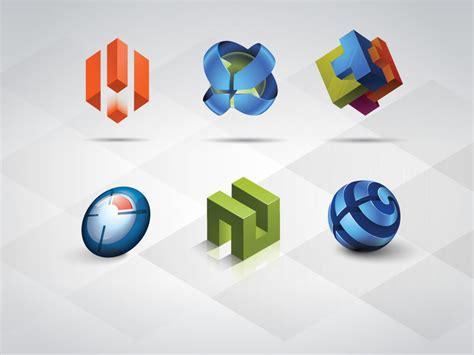 Logo Design Vorlagen 3d Logo Vorlagen Set Cliparts Kostenlose Clipart Clipartlogo