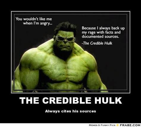 Meme Source - what the hulk can teach us all about standing out in