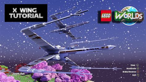tutorial lego worlds lego worlds x wing lets build tutorial youtube