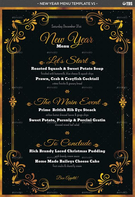 new year menu new year menu template v1 by lou606 graphicriver