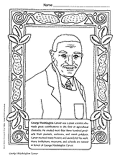 george washington carver coloring page black history