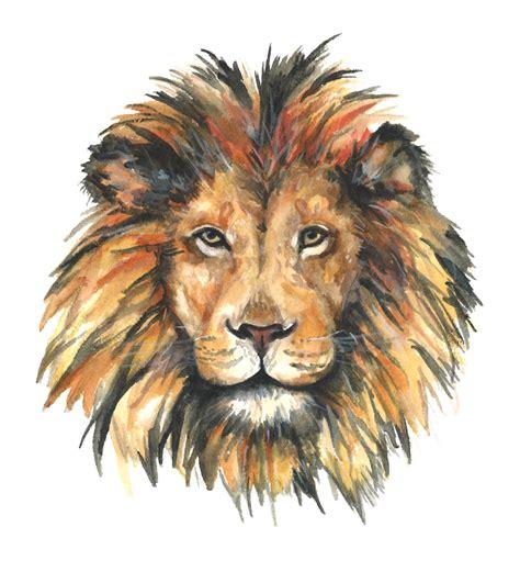 lion print lion watercolor print lion watercolor painting lion art