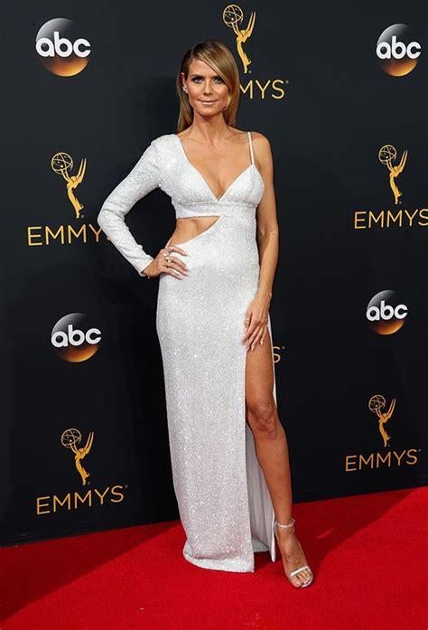 Who Wore Michael Kors Better Heidi Klum Or Hudson by Photos Lovely Dresses From The 68th Primetime Emmy