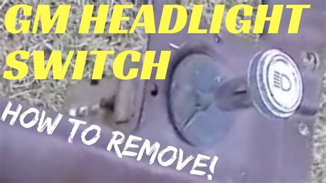 how to change a headlight for a 1986 porsche 928 chevy headlight switch removal how to remove c10 headlight switch youtube
