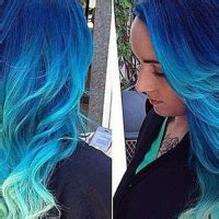 22 trendy ombre hairstyles for girls pretty designs long wavy blue ombre hair