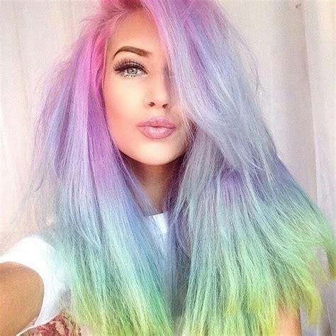 Toner Rambut foto warna warni pastel dengan sentuhan ombre yang