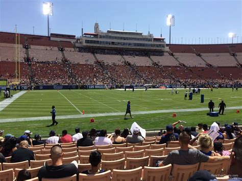 what is section 17 los angeles memorial coliseum section 25 rateyourseats com