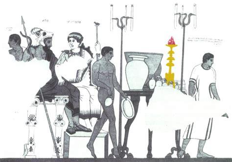banchetto etrusco a cortona col louvre e gli antinori per un itinerario eno