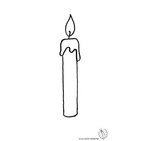 candela accesa disegno di candela accesa da colorare per bambini