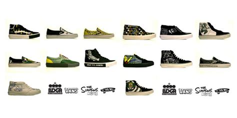 Harga Vans X The Simpsons simpsons x vans all fourteen shoes from hypebeast