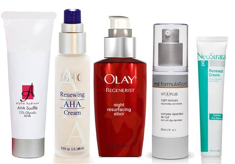 best aha exfoliants alpha hydroxy acids products