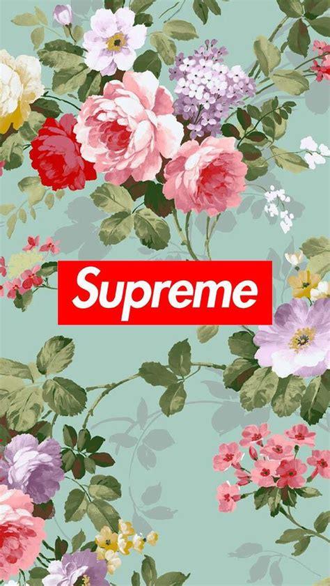 Supreme Floral Wallpaper wallpaper background supreme flowers wallpapers