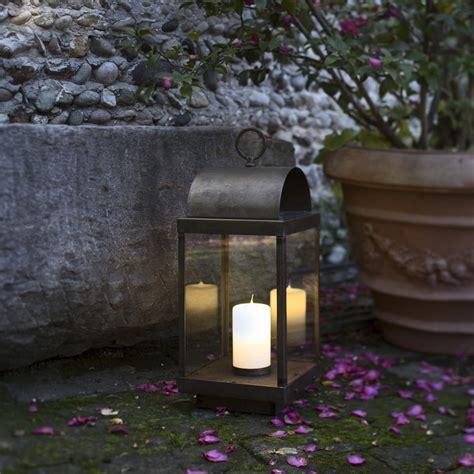 lanterne candele lanterna da giardino con candela in ferro o ottone il fanale