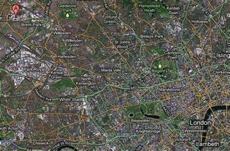 imagenes historicas google maps en este google maps la a representa el estadio de wembley