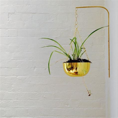 brass planter bracket modern plant hanger decorative wall