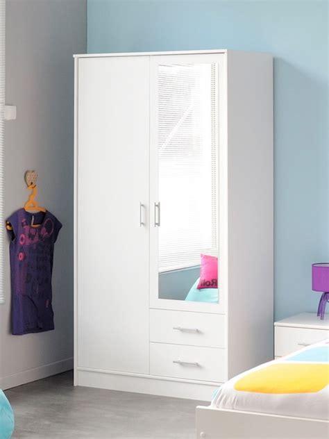weißer kleiderschrank mit spiegel günstig kinderzimmer kleiderschrank dekor