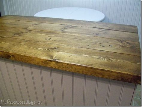 Bar Top Trim Ideas by Wood Top Made From Leftover 2x4 S For The Home