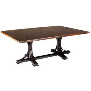 Hammered Metal Table L Copper Top Dining Table Ideaforgestudios