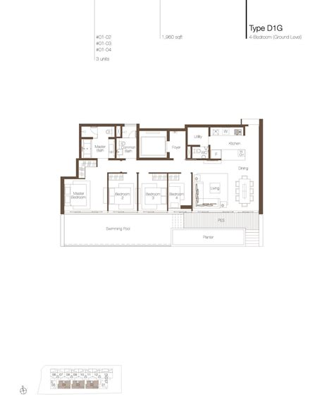 park residences floor plan 4 bedroom pes cluny park residence