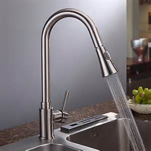 Modern Faucets For Kitchen by Nickel Brushed Finish Contemporary Single Handle Kitchen