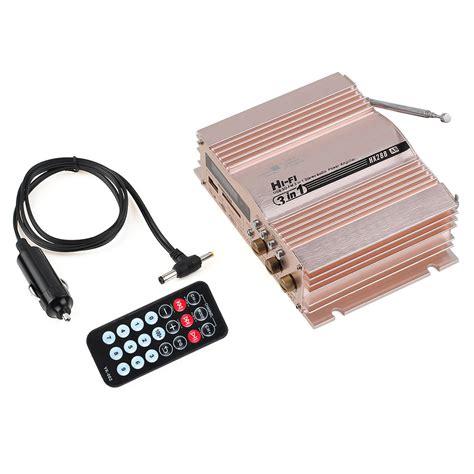 Hi Fi Stereo Lifier Speaker 2 Channel 20w 360w 12v 2 channel hi fi car stereo lifier fm radio mp3 speaker re c5n4