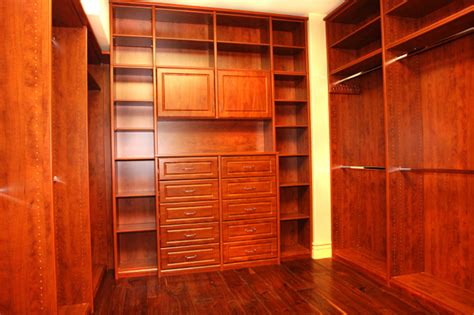Custom Wood Closet by Hardwood Interiors Inc Wood Artisan Custom Cabinetry