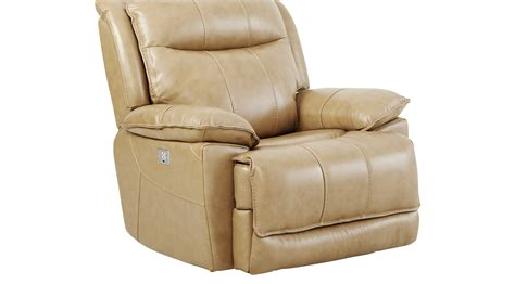 beige recliner 749 99 canyon ranch beige leather power plus recliner