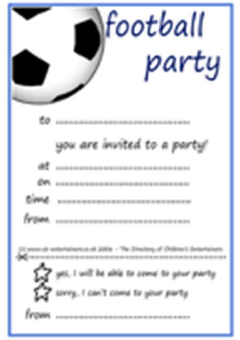 Football Party Invitations Free Cimvitation Football Themed Invitation Template