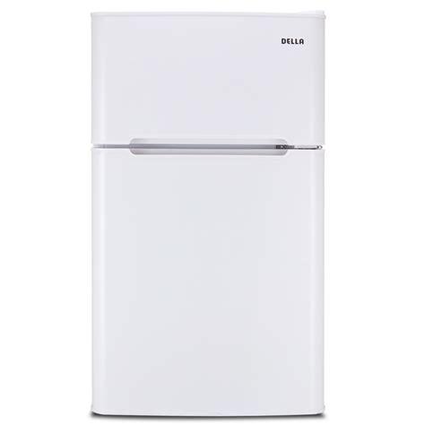 2 Door Mini Fridge With Freezer by 3 2 Cu Ft Mini Refrigerator Freezer Small Fridge 2 Door Office Cooler White