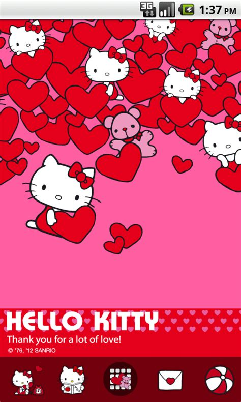hello kitty new themes hello kitty love theme android apps on google play