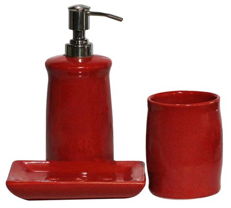stoneware bathroom accessories bulk wholesale handmade ceramic bath accessories set 3