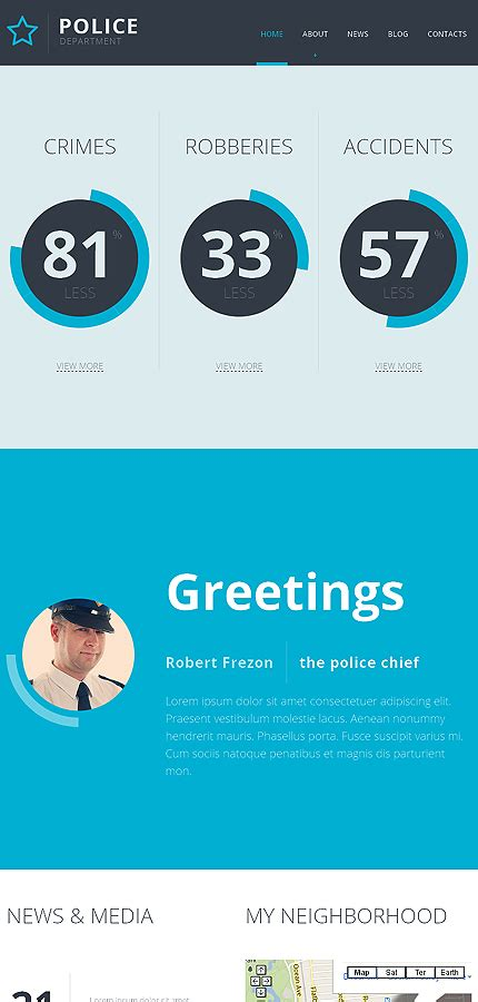 templates for police website police responsive website template 47100